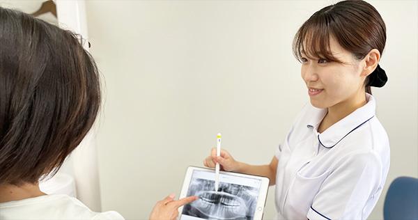 南茨木プラザ歯科の取り組み カウンセリングで治療計画を丁寧にお伝えします